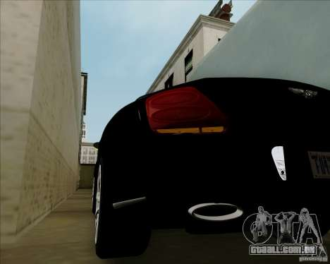 Bentley Continental GT V1.0 para vista lateral GTA San Andreas