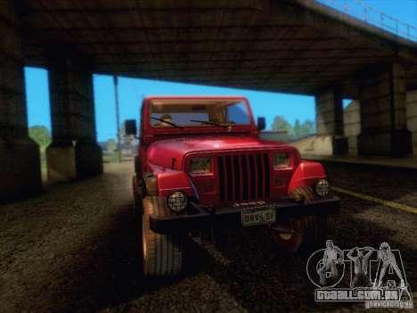 Jeep Wrangler 1994 para GTA San Andreas vista traseira