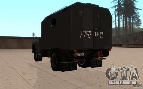 ZIL 130 rádio Butka para GTA San Andreas traseira esquerda vista