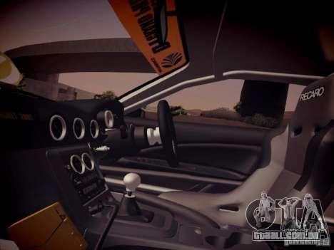 Nissan Silvia S15 Top Secret v2 para GTA San Andreas vista interior