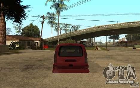 Renault Kangoo Tuning para GTA San Andreas traseira esquerda vista