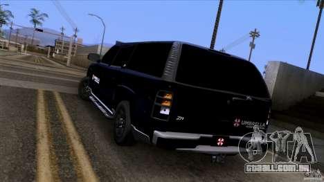 Chevrolet Suburban 2003 v2 para GTA San Andreas traseira esquerda vista