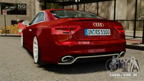 Audi RS5 2012 para GTA 4 traseira esquerda vista