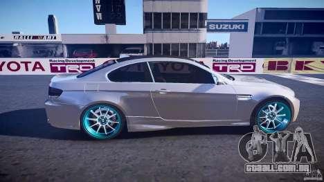 BMW E92 para GTA 4 vista lateral