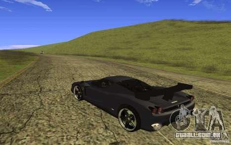 Ferrari Enzo ImVehFt para GTA San Andreas traseira esquerda vista