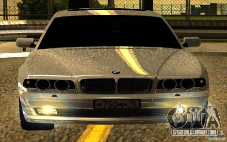 BMW 750iL E38 para GTA San Andreas interior