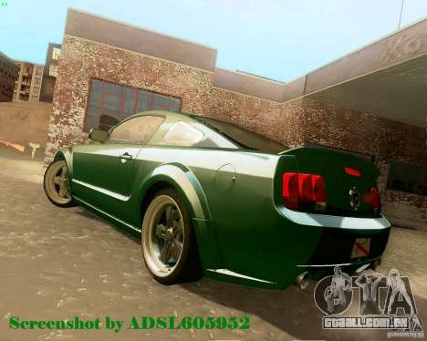 Ford Mustang GT 2005 Tunable para GTA San Andreas vista interior