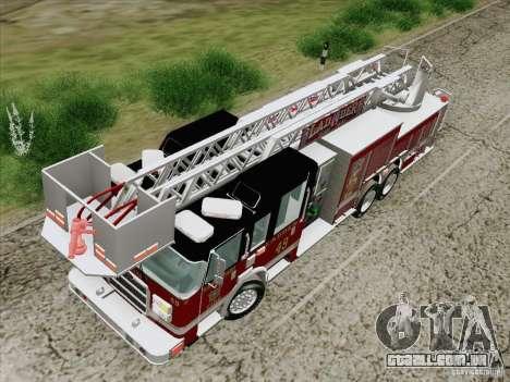 Pierce Rear Mount SFFD Ladder 49 para GTA San Andreas vista interior