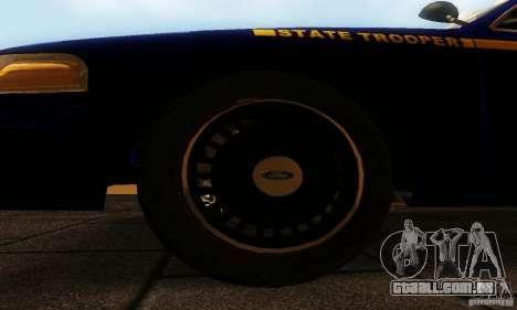 Ford Crown Victoria New York Police para GTA San Andreas vista direita
