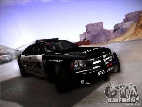 Dodge Charger RT Police Speed Enforcement para GTA San Andreas esquerda vista