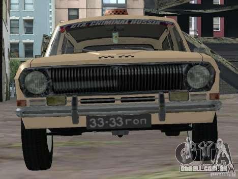 Táxi do Volga GAZ-24-02 para GTA San Andreas vista direita
