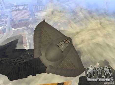 Death Glider para GTA San Andreas vista interior
