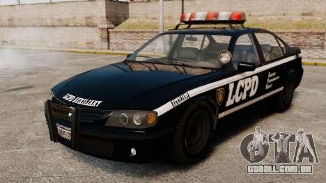 Nova patrulha da polícia para GTA 4 vista de volta