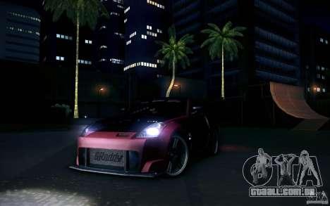 Nissan 350Z Fairlady para GTA San Andreas vista traseira