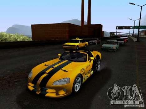 Dodge Viper SRT-10 Custom para GTA San Andreas interior