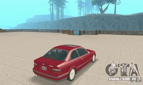 BMW 325i Coupe para GTA San Andreas esquerda vista
