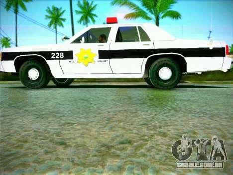 Ford Crown Victoria LTD 1991 HILL-VALLEY Police para GTA San Andreas esquerda vista