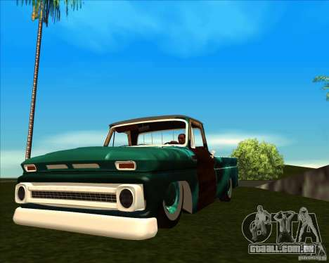 Chevrolet C10 Rat Rod para GTA San Andreas vista traseira