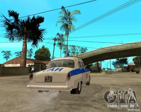 Gaz-21r GAI para GTA San Andreas vista direita