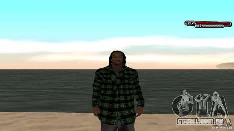 New skin Grove HD para GTA San Andreas quinto tela
