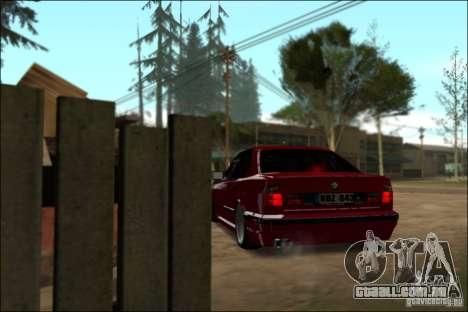 BMW M5 E34 Street para GTA San Andreas vista traseira