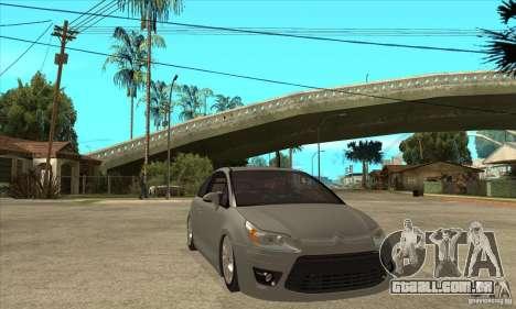 Citroen C4 VTS Coupe 2009 para GTA San Andreas vista traseira