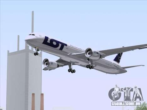 Boeing 787-9 LOT Polish Airlines para GTA San Andreas vista superior