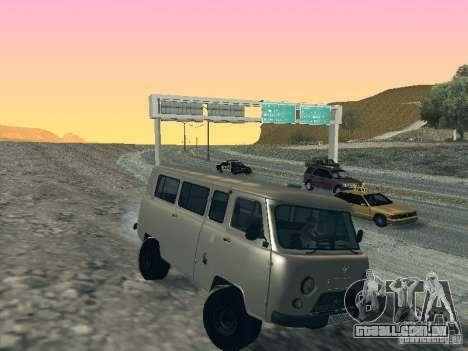UAZ 2206 para GTA San Andreas esquerda vista