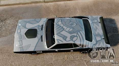 Plymouth Cuda 1971 [EPM] Mopar para GTA 4 vista direita