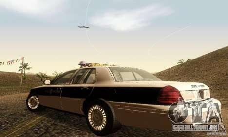 Ford Crown Victoria New Corolina Police para GTA San Andreas esquerda vista