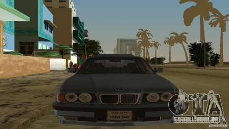 BMW 540i e34 1992 para GTA Vice City vista traseira esquerda