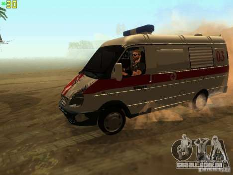 Ambulância de gazela 32214 para vista lateral GTA San Andreas