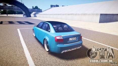Audi S4 Custom para GTA 4 traseira esquerda vista
