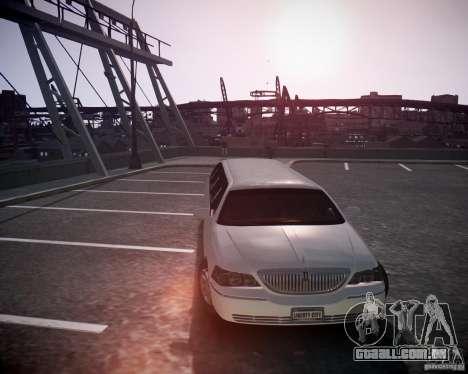 Lincoln Town Car Limousine para GTA 4 traseira esquerda vista