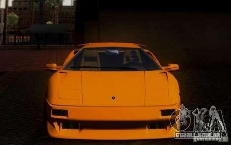 Lamborghini Diablo VTTT Black Revel para GTA San Andreas vista interior