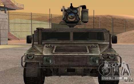 Hummer H1 from Battlefield 3 para GTA San Andreas traseira esquerda vista