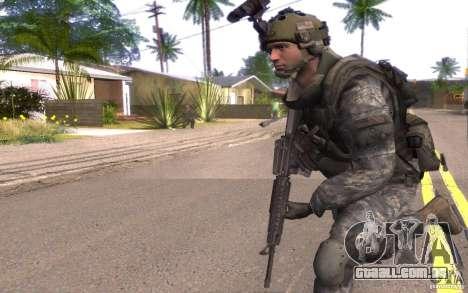 CPL. Dunn para GTA San Andreas segunda tela