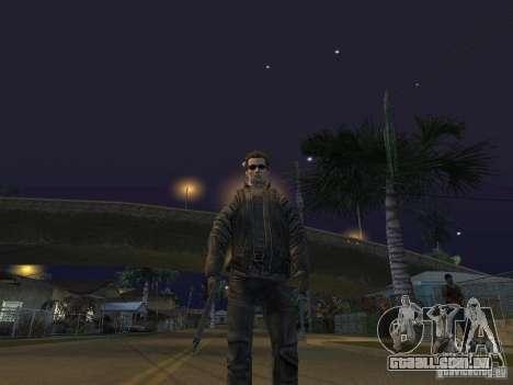 Terminator para GTA San Andreas por diante tela