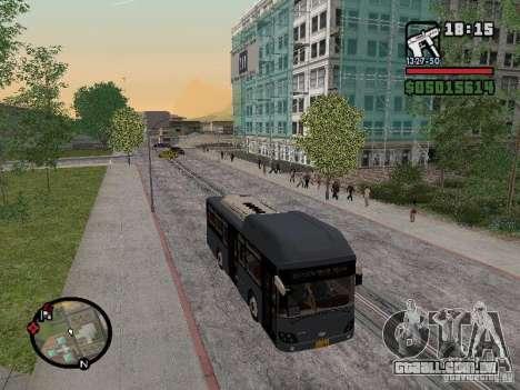 Daewoo BS110CN para GTA San Andreas traseira esquerda vista
