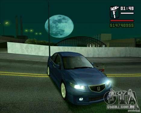 Honda Accord Type-S para GTA San Andreas traseira esquerda vista