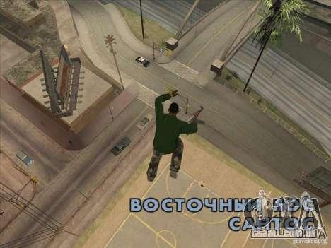 Saltar o Jet pack para GTA San Andreas terceira tela