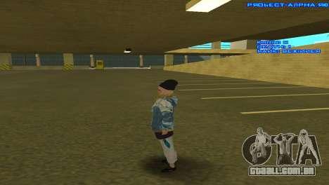 Vagos Girl para GTA San Andreas por diante tela