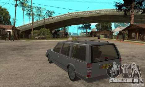 Volvo 945 Wentworth R para GTA San Andreas traseira esquerda vista