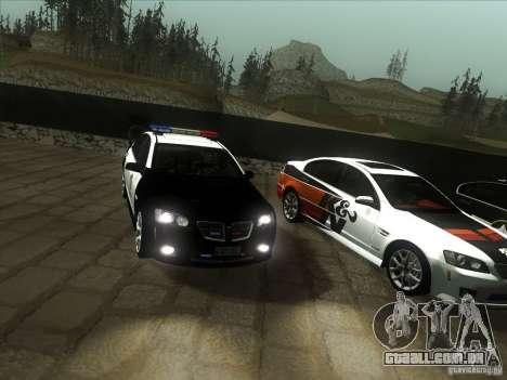 Pontiac G8 Police para GTA San Andreas vista traseira
