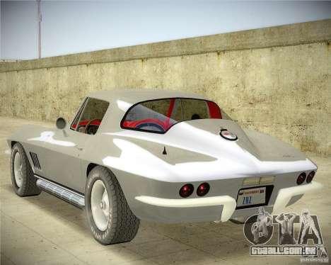 Chevrolet Corvette Stingray para GTA San Andreas esquerda vista