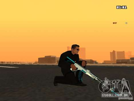 Blue Weapon Pack para GTA San Andreas terceira tela