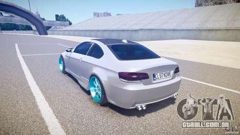 BMW E92 para GTA 4 traseira esquerda vista