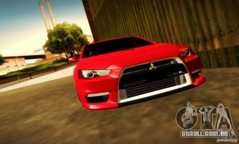 Mitsubishi Lancer Evolution X para vista lateral GTA San Andreas