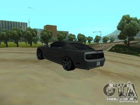 Ford Mustang GTS para GTA San Andreas traseira esquerda vista