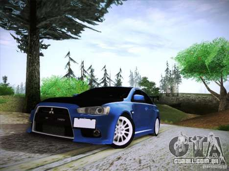Mitsubishi Lancer Evolution Drift Edition para GTA San Andreas vista traseira